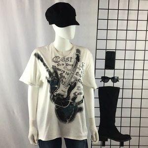DKNY Guitar & New York Logo T-Shirt